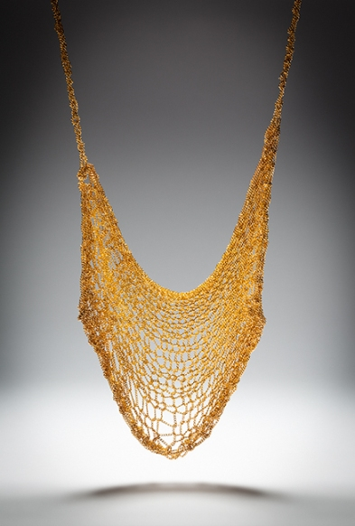 Artemis knitted chain gold plated