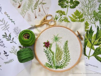 Broderie et botanique